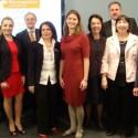 Weissman Center Staff with Santander Representatives