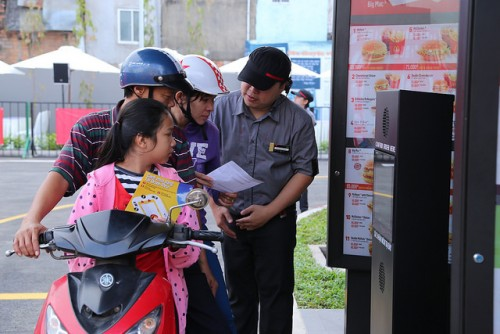 A McDonald's drive-thru in Vietnam via McDonaldsCorp
