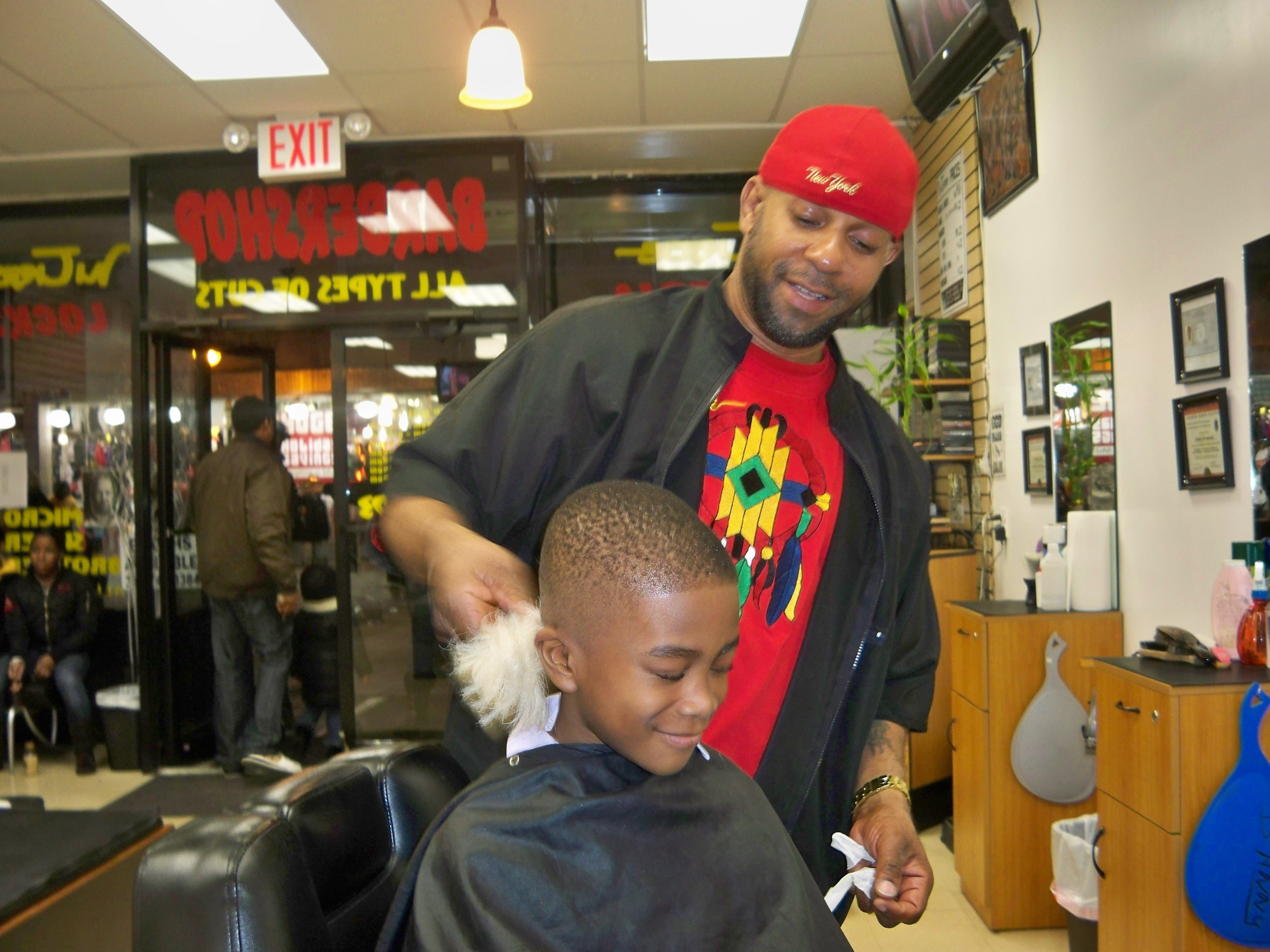 People Getting Haircuts is Getting a Haircut From